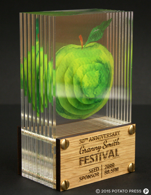 custom trophies for granny smith festival