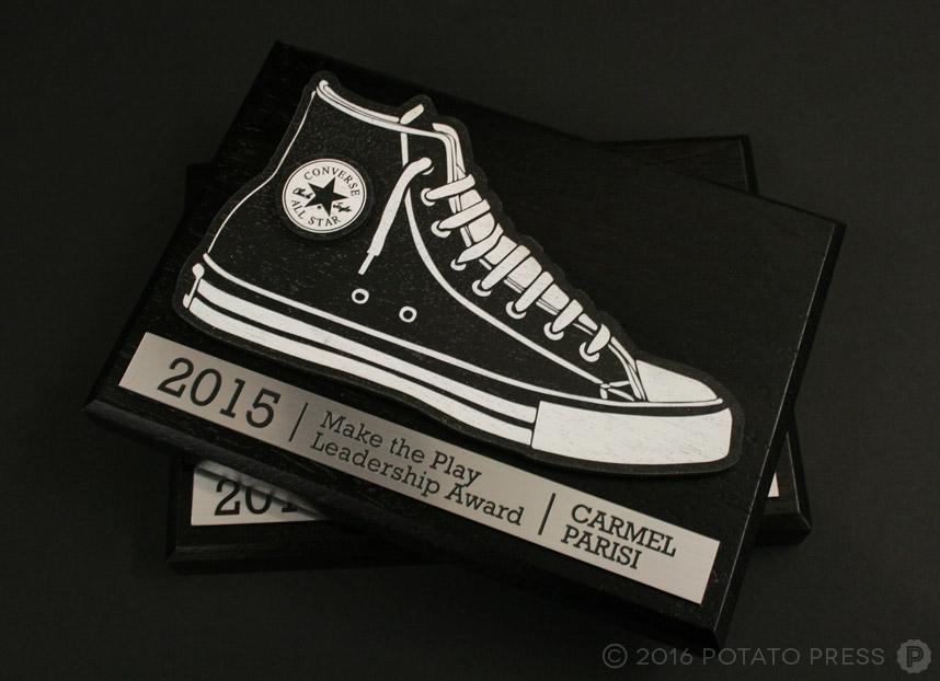 Black-Converse-all-star-custom-wooden-plaques-printed-wood-potato-press-australia-north-america